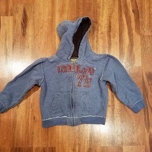 Timberland full zip hoodie size 3t.
